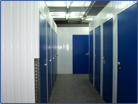 interior view of self storage facility